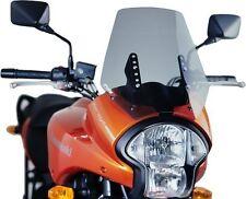 Puig Touring Windscreen for 2007-2009 Kawasaki KLE650 Versys Dark Smoke / 4360F