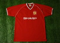 Manchester United 1988 1990 FOOTBALL SOCCER SHIRT JERSEY HOME SCORE DRAW REPLICA
