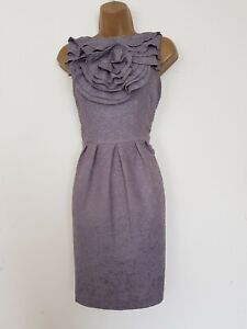 DESIGNER ADRIANNA PAPELL GREY PENCIL DRESS SIZE 8 PARTY OCCASION WOMEN'S OFFICE