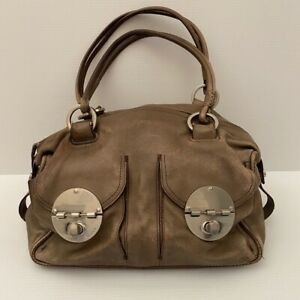 MIMCO Large Classic Buckle Brown Leather Handbag