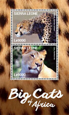 Sierra Leone - Big Cats of Africa Stamp - Souvenir Sheet MNH