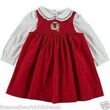 Bambina RALPH LAUREN Set in velluto a coste Dress & LS Body 3/6m (68cm) NUOVO CON ETICHETTA
