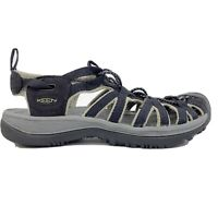 Womens Keen Whisper Sandal Size 9 Black Gray Hiking River Water Shoes