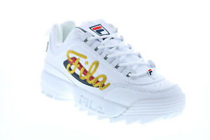Fila Disruptor II Signature Womens White Synthetic Lifestyle Sneakers Shoes 10