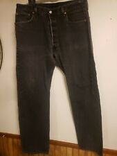 "vintage black levis 501 jeans pants 37 38 w 32"" length button fly"
