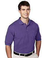 Tri-Mountain Men's Big And Tall Short Sleeves Pique Knit Polo T-Shirt. 106-Tall