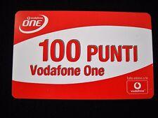 Carta servizi Vodafone One 100 punti - Da collezione
