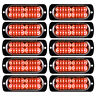 10X Red 20LED Emergency Flashing Strobe Light Truck Car Recovery Beacon Lamp 12V