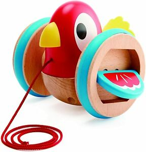 Hape Pull Along Bird Baby Toddler Wooden Pull Toy 12m+