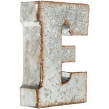 """7"""" Rustic Marque Galvanized Vintage Metal 3D Letters- CAPITAL LETTERS AVAILABLE"""