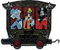 Disney Pin 89793 Train Mystery New Orleans Square Haunted Mansion Pirates Goofy