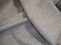 "One Yd JAB CHIVASSO WOOL Coat Upholstery Fabric 343-3 Columbia gray 57""x 36"" BTY"