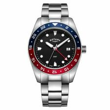 Rotary Henley GMT Men's Stainless Steel Bracelet Watch GB00680/04