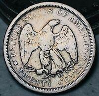 1875 S Twenty Cent Piece 20C High Grade Details Good RARE Silver US Coin CC5493
