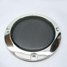 """2pcs 3""""inch Silver speaker grille decorative ring Speaker protective cover Horn"""