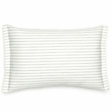 SOUTHERN TIDE Sullivan Stripe Cotton Lumbar Pillow Ivory Gray NEW NWT