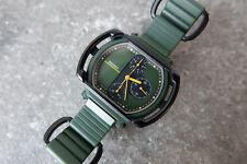 SEIKO 7A28 - 500A GIUGIARO Motocross Speedmaster Chronograph Vintage Green Watch