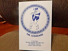 Krewe Of ACHAEANS 1992 Ball Program invitation Mardi Gras New Orleans