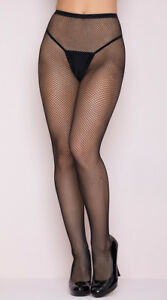 One Size Fits Most Womens Classic Seamless Fishnet Pantyhose