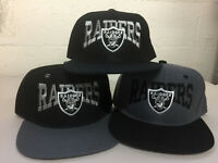 Oakland Raiders Writing Snap Back Cap Hat Embroidered Las Vegas Flat Bill Men