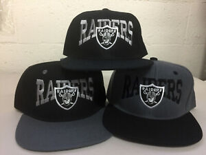 Las Vegas Raiders Writing Snap Back Cap Hat Embroidered Oakland Flat Bill Men
