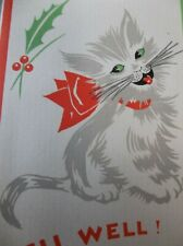 Vintage Card ~ Nursey Rhyme Cats ~Very Unique Kitty Cat Card ~LQQK!!