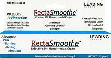 RectaSmoothe Lidocaine 5% Anesthetic Cream for Hemorrhoids Pain Relief 1 oz Tube