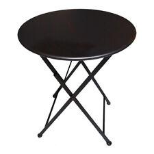 Metall Gartentisch Beistelltisch Balkon Tisch Klapptisch klappbar P-512 braun