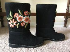 Womens Valenki Wool Felt Winter Boots. Size 7.5