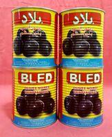 4 Dosen Oliven Schwarz ohne Stein Marokko Feinkost - 4 x 850 g - vegetarisch