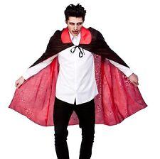 Halloween Kostüm Doppelseitig Umhang mit Kragen 115cm Schwarz/Rot Neu w