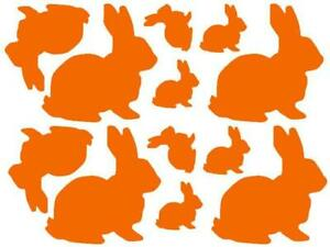 12 Easter Bunny Stickers Labels, Mixed Sizes, Lots of colours available !