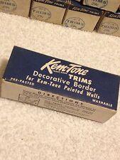 "NOS Vintage 1940-50s Kem Tone wall border trim pre-pasted 12' X 4"" beautiful"