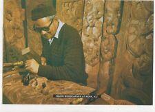 Maori Woodcarver At Work Postcard New Zealand 582a