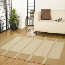 Large Visiona Soft Luxury Flair Rugs Tonal Textured 3d Striped Block Modern Rug 120x170cm