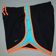 Nike Dri-Fit Tempo Running Shorts - Women's Large L (navy/peach/turquoise) NWT