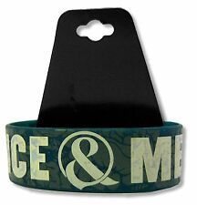 OF MICE AND MEN FLORAL GREEN SILICONE WRISTBAND MUSIC BAND NEW OFFICIAL