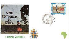 785-  FDC VATICAN VISITE PAPE JEAN PAUL II  AU  CAP  VERT