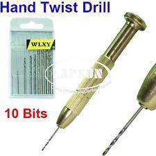 Copper Drill Bits Set Tools Metal Hand Twist Pen For Plastic Wood PCB w/ 10 Tips
