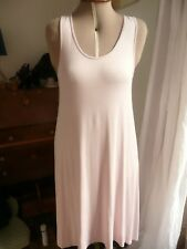 Classic Pale Ballet Pink Nude Sleeveless Jersey Midi Dress Boho size 10