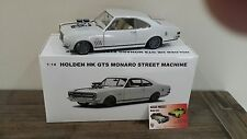 1:18 Biante Holden HK GTS 327 Monaro Wraith White with Black stripes Blown