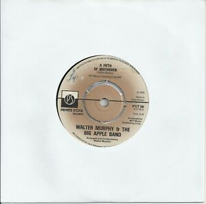 """Walter Murphy & The Big Apple Band - A Fifth Of Beethoven 7"""" Vinyl Single 1976"""