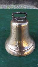 "Antique Brass Horse Bell Large 4"" Diameter Beautiful Patina"