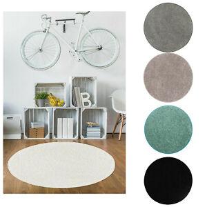 Teppich Rund 100 cm 133 cm Modern Einfarbig Kurzflor Kinderteppich Wohnzimmer