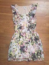 SPEECHLESS Summer Dress Ruffle Yellow Floral  Size XS X-Small