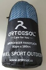Travel/Gym Outdoor Microfibre Bamboo Towel Fast Drying Skyblue