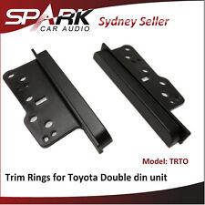 AD Double Din Trim Rings Side Bracket Facia for Toyota Prado 2003-09 120 TRTO