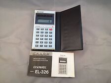 Sharp Solar Cell Elsi Mate EL-326 Electronic Calculator & Instruction Manual