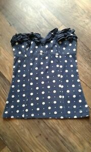 Abercrombie & Finch Size Small blue and white spotted boob tube strapless top