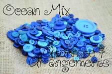 OCEAN MIX - Mixed Bulk Buttons 250+ Craft Scrapbooking Bouquet Mixed Colours